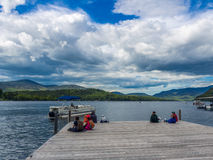 Lake Placid the landmark of New York state Royalty Free Stock Images