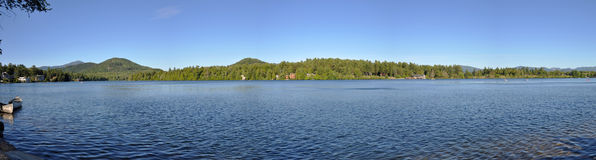 Lake Placid panorama, New York, USA Royalty Free Stock Images