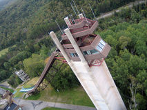 Lake Placid Ski Jumps in Summer Royalty Free Stock Photography