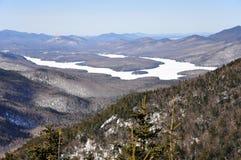 Lake Placid und wenig Whiteface-Berg, NY, USA Lizenzfreies Stockfoto