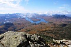 Lake Placid und Whiteface Berg Stockfotografie