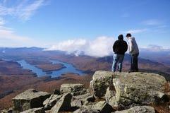 Lake Placid und Whiteface-Berg, New York Stockfotos