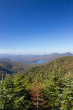 Lake Placid view from top of Whiteface Mountain Stock Image