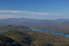 Lake Placid view from top of Whiteface Mountain Stock Images
