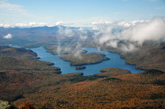 Lake Placid and Whiteface Mountain Stock Image
