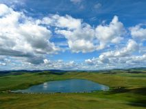 Lake in the plain. S of Central Asia Royalty Free Stock Photography