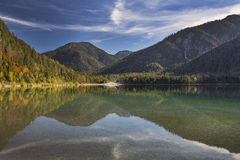 Lake Plansee in Austria during autumn Stock Image
