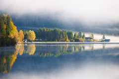 Lake plansee in autumn fall Royalty Free Stock Photo