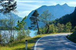Lake Plansee summer landscape (Austria). Royalty Free Stock Photo