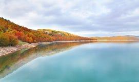 Lake Plastira Thessaly Greece Stock Photo