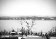 Lake Plastira on winter Stock Image