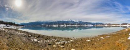 Lake Plastiras panorama, Thessaly, Greece Royalty Free Stock Images
