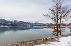 Lake Plastiras in the winter, Thessaly, Greece Stock Photo