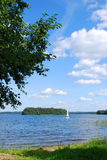 Lake Plateliai, Lithuania. It is the biggest lake in Samogitia and 9th biggest in Lithuania. It is the central attraction in the Zemaitija National Park Stock Image