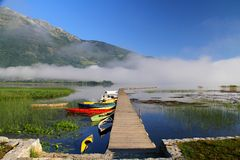 Lake Plav. Montenegro Plav Gusinje lake nature wild beauty Royalty Free Stock Image