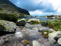 Lake Pleso nad Skokom, High Tatras mountains, Slovakia royalty free stock images