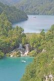 Lake Plitvice. Croatian National Park, on a beautiful sunny day royalty free stock photos