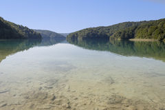 Lake in Plitvice, Croatia Royalty Free Stock Photography