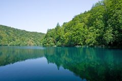Lake at Plitvice national park Royalty Free Stock Photography