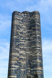 Lake Point Tower. Chicago, USA - May 24, 2014: Lake Point Tower seen from Chicago River Stock Photography
