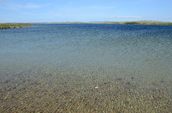 Lake polar region. A lake with crystal clear water in the Arctic Royalty Free Stock Images
