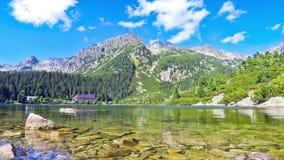 Lake Popradske pleso in High Tatras, Slovakia stock video