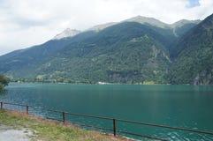 Lake Poschiavo in Graubunden Stock Images