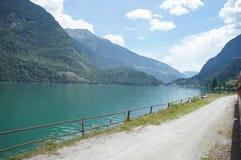 Lake Poschiavo in Graubunden Stock Photo