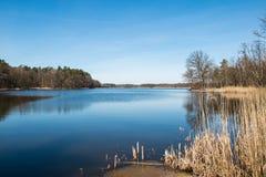 Lake Postne autumn season - Poland. Lubuskie Stock Images