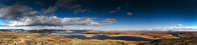 Lake Powel Arizon. Panoramic image in Arizona, Lake Powel Stock Images
