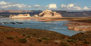 Lake Powell. View of Lake Powell and touristic marina - USA Royalty Free Stock Photography