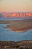 Lake Powell. Last stroke of sunlight at Lake Powelll Arizona Stock Photography