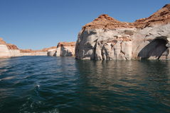 Lake Powell. Page - Lake Powell boat tour Royalty Free Stock Photo