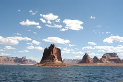 Lake Powell. This picture was taken from a boat an the lake Powell royalty free stock image