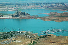 Lake Powell. Aerial view of Lake Powell  in Arizona, USA Royalty Free Stock Photo
