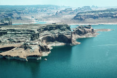 Lake Powell. Aerial view of Lake Powell  in Arizona, USA Royalty Free Stock Images