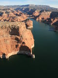 Lake Powell from the air Royalty Free Stock Photo