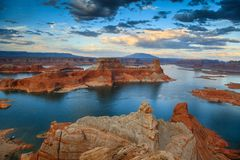 Lake Powell from Alstrom Point Royalty Free Stock Photography