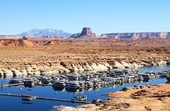 USA, Arizona/Lake Powell: Antelope Point Marina Royalty Free Stock Image