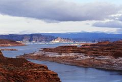 Lake Powell in Arizona royalty free stock photography