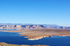 Lake Powell, Arizona Arkivfoto