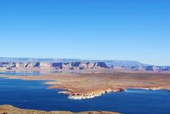 Lake Powell, Arizona. Lake Powell  near Wahweap Marina, Arizona Stock Photo