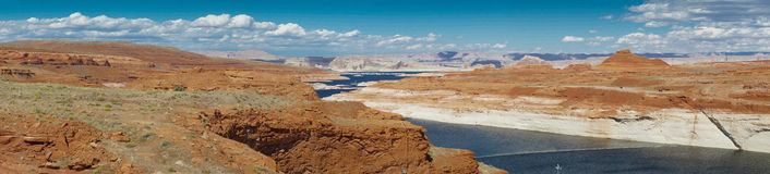 Lake Powell Arizona - panorama Royalty Free Stock Image