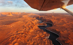 The lake Powell and canyon Antelope on a sunset Stock Photos