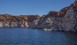 Canyon full of water in Arizona Lake Powell glen stock images