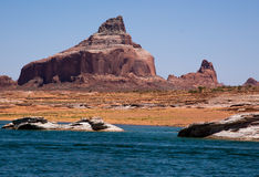 Lake Powell Cliffs and Mountains Royalty Free Stock Images