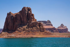 Lake Powell Cliffs and Mountains Stock Image