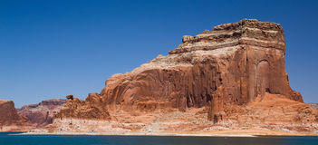 Lake Powell Cliffs and Mountains Stock Photo