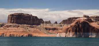 Lake Powell Cliffs and Mountains Royalty Free Stock Photo