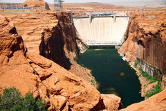 Lake Powell close to Glen canyon dam Stock Photography